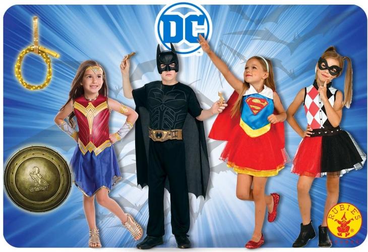 déguisement COSTUME ACCESSOIRES batman wonder woman harley quinn